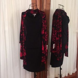 🌷**NWT** Dress Barn- Red and Black Dress